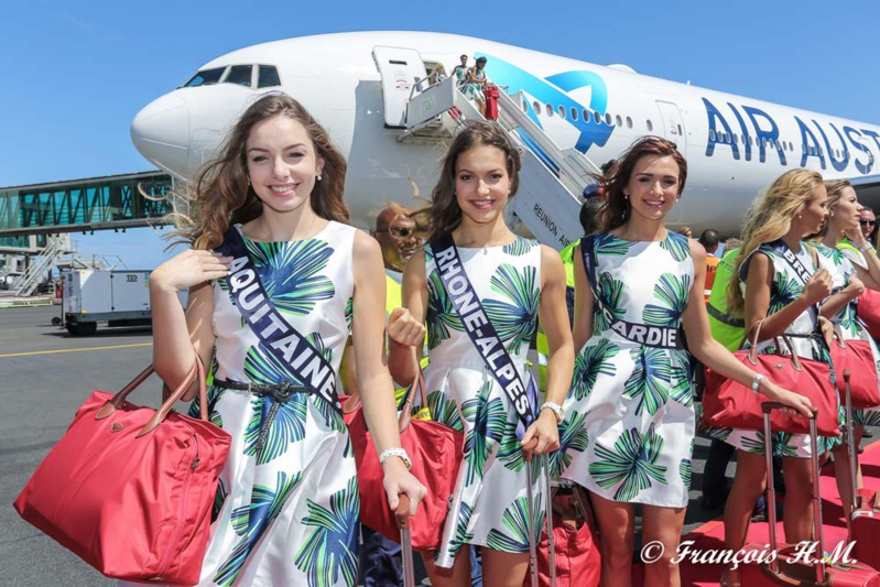 L'arrivée des candidates Miss France 2017 à La Réunion en photos