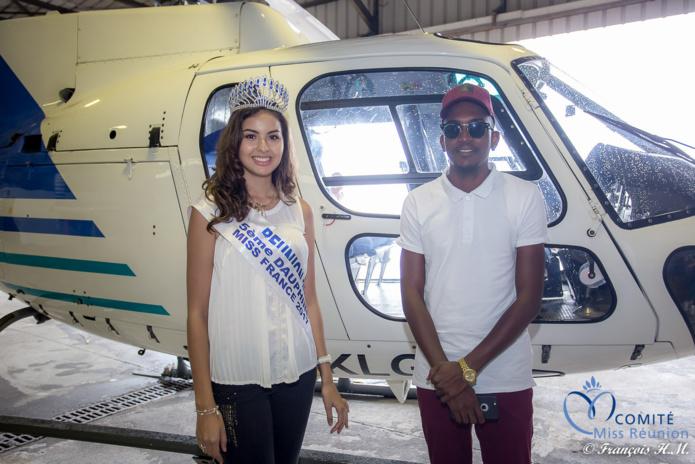 Les deux stars de cete journée, Miss Réunion et le chanteur Black T