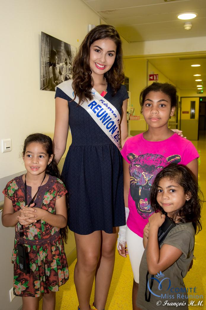 Miss Réunion toujours disponible pour les enfants