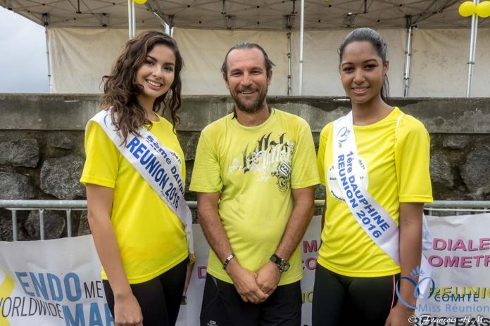 Miss Réunion a participé à l'Endomarch à Trois-Bassins