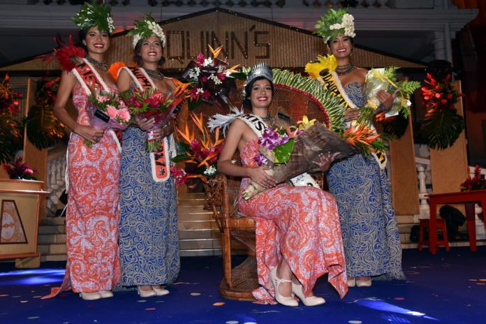 Miss Tahiti 2017 et ses dauphines