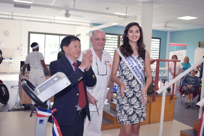 Le maire du Tampon était fier d'accueillir Miss Réunion...