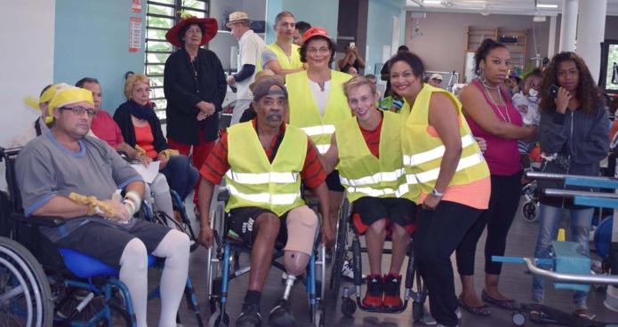 Des patients heureux de participer à ces Olympiades