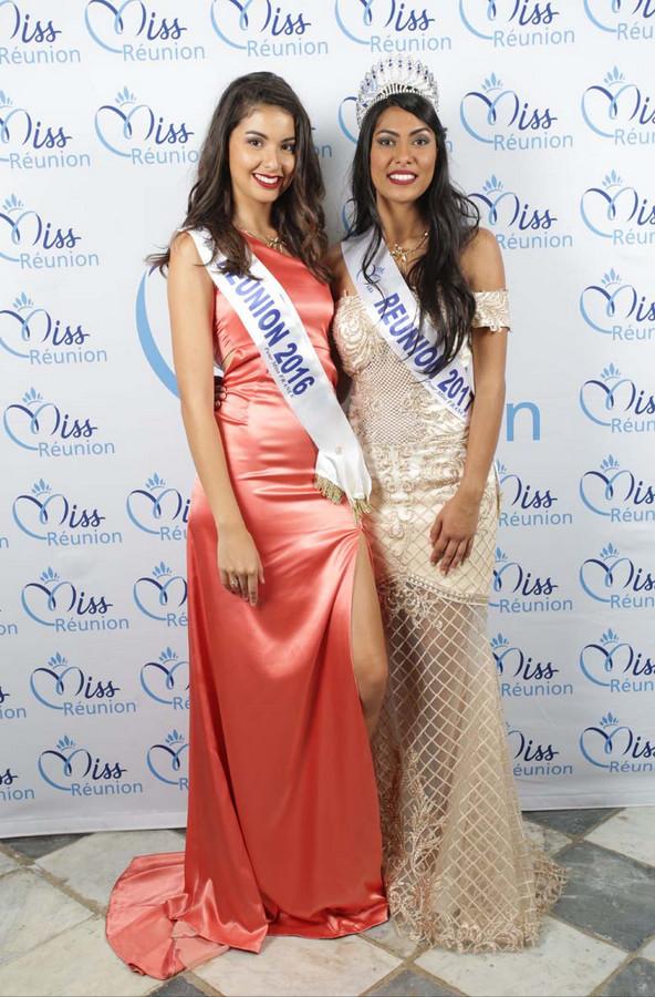 Ambre N'guyen, Miss Réunion 2016, et Audrey Chane Pao Kan, Miss Réunion 2017