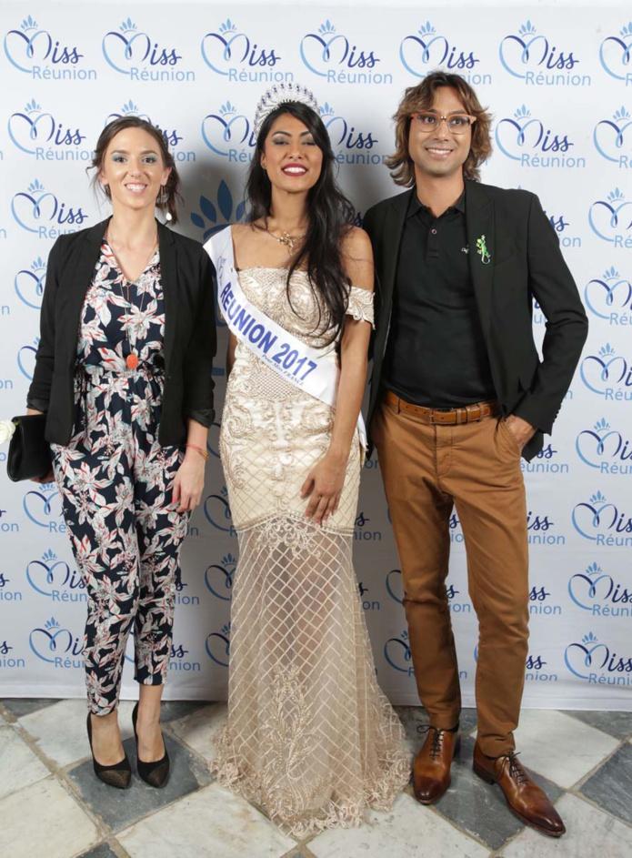 Avec Rebekka de Air Voyages et Abdoullah Hossen, de l'Effet péi