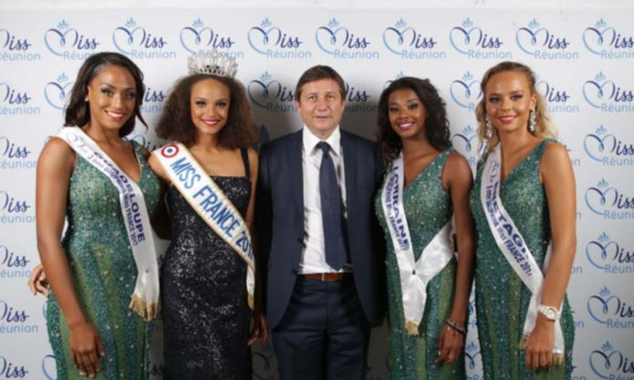Thierry Désert avec Miss France et ses dauphines