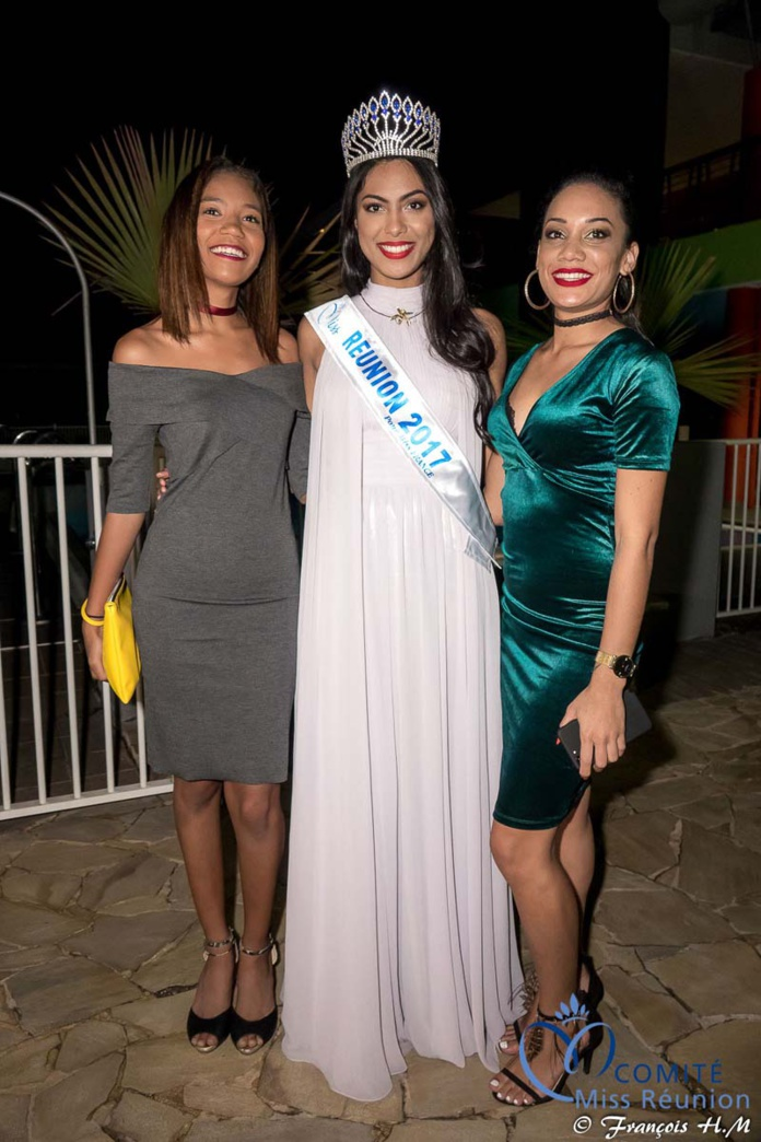Miss Réunion 2017 et ses dauphines à la soirée Ekwalis