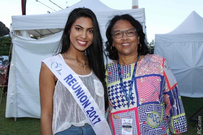 Miss Réunion avec Béatrice Sigismeau, vice-présidente du Département