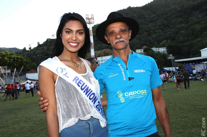 Miss Réunion accueille le dernier finisher du Grand Raid