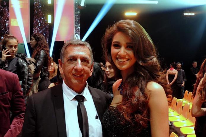 Aziz Patel et la Réunionnaise Aurore Kichenin, dauphine de Miss Monde