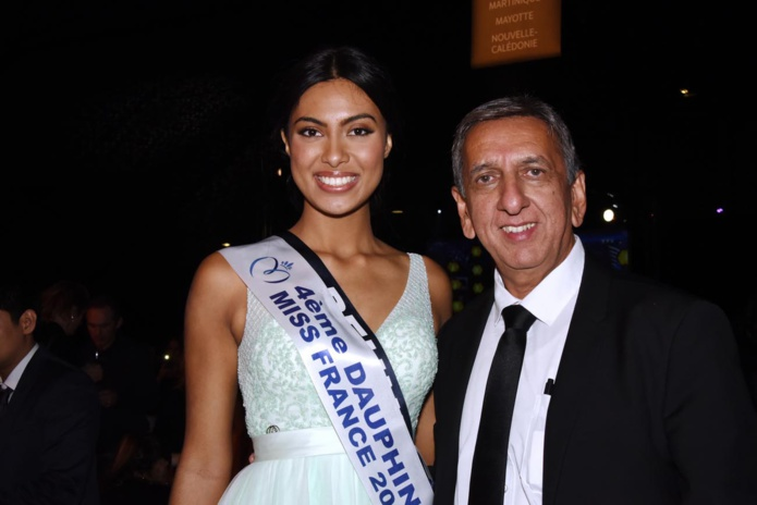 Audrey Chane Pao Kan et Aziz Patel, délégué Miss France
