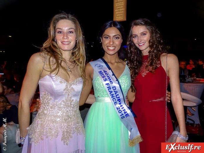 Miss Réunion avec des fans de Poitou-Charente