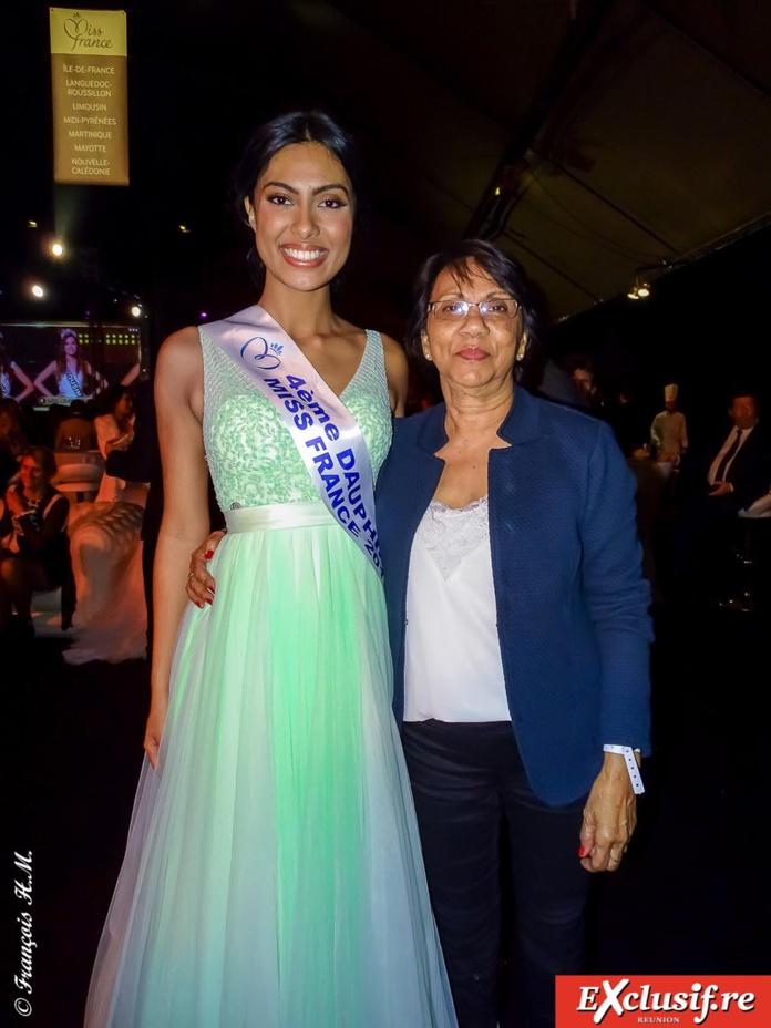 Avec sa tante Ginette