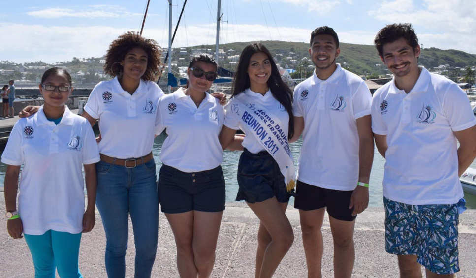 Miss Réunion 2017 soutient les Voiliers de l'Espoir à Saint-Gilles