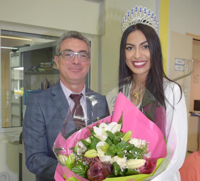 Miss Réunion avec le directeur de l'USLD de Saint-André