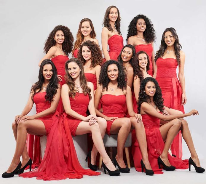 Les 12 candidates Miss Réunion 2018
