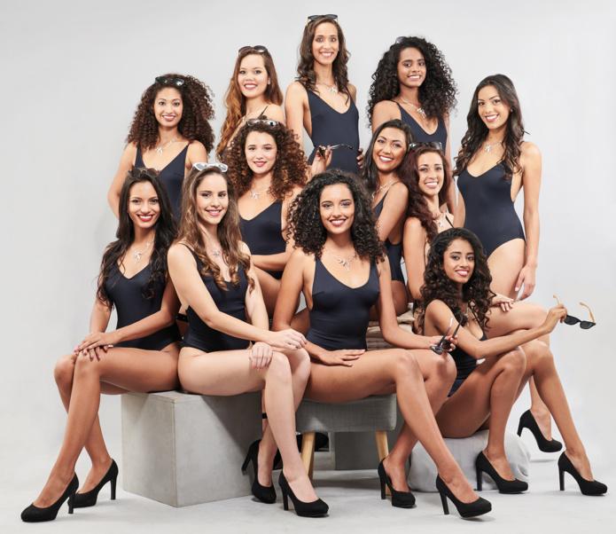 Les 12 jolies candidates Miss Réunion 2018