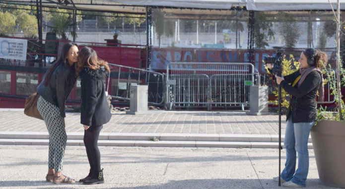 Tournage à Paris sur les quais...