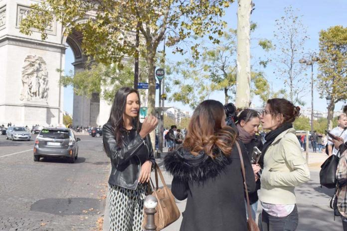 Morgane Soucramanien en balade à Paris