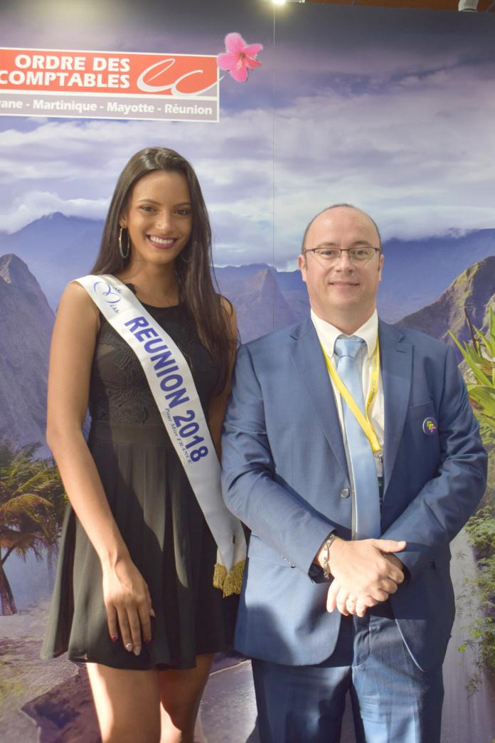 Morgane Soucramanien et Rémy Amato, président du CROEC Réunion