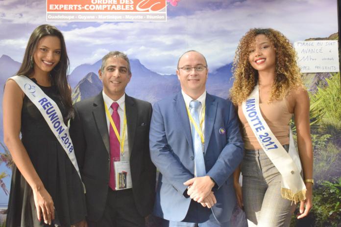 Morgane Soucramanien, Mo Kalfane, président du Conseil de Mayotte, Rémy Amato, président du Conseil de La Réunion, et Vanylle Emasse