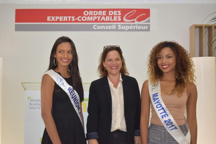 Morgane, Katy Hoarau du CROEC, et Vanylle