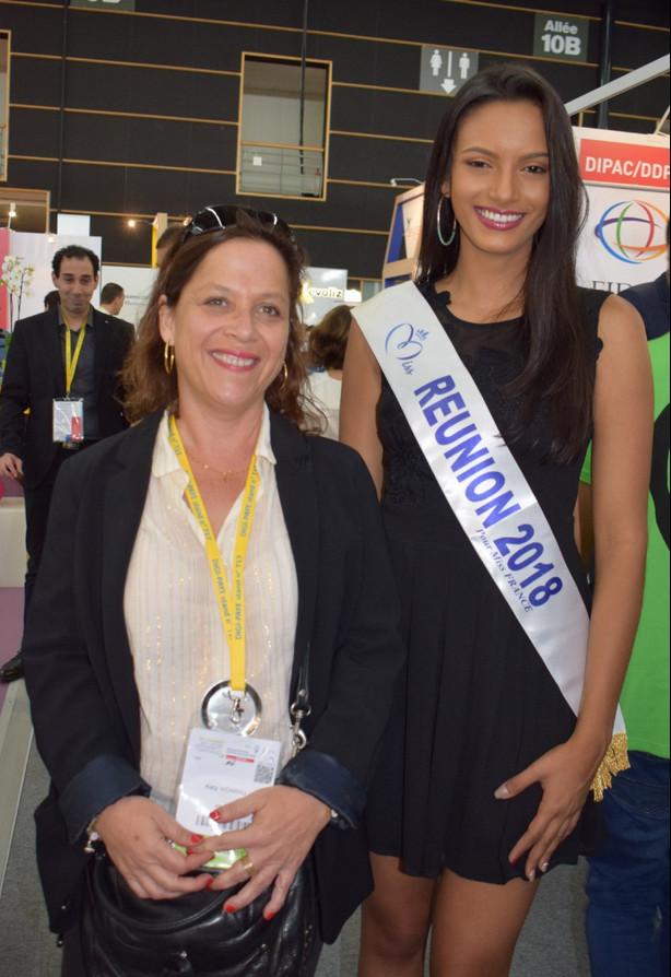 Avec la pétillante Katy Hoarau, expert comptable, élue du CROEC