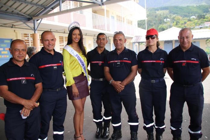 Avec les pompiers de Cilaos