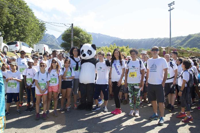 Miss Réunion 2019 et ses dauphines au Pandathlon 2019 à l'Entre-Deux