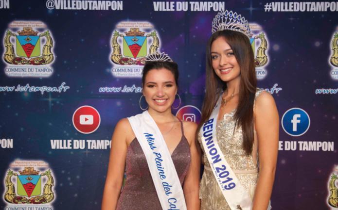 Mélina Siby, Miss Plaine des Cafres 2020, et Morgane Lebon, Miss Réunion 2019