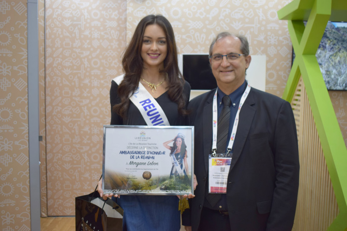 Morgane Lebon, Miss Réunion 2019, et Stéphane Fouassin, président de l'IRT