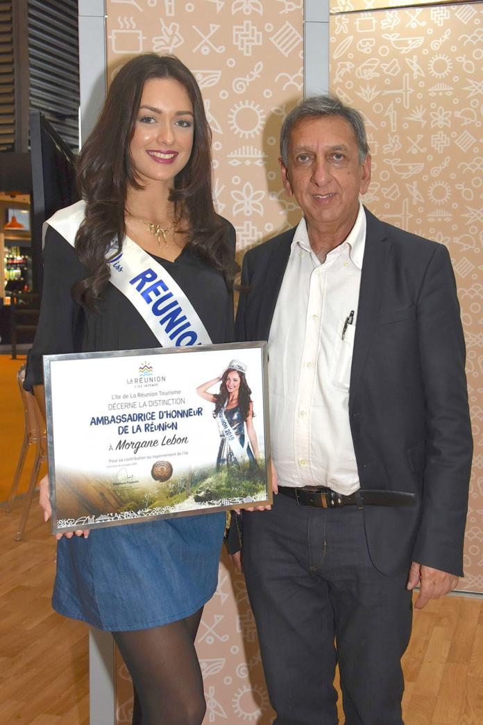 Morgane Lebon et Aziz Patel, délégué Miss France pour La Réunion