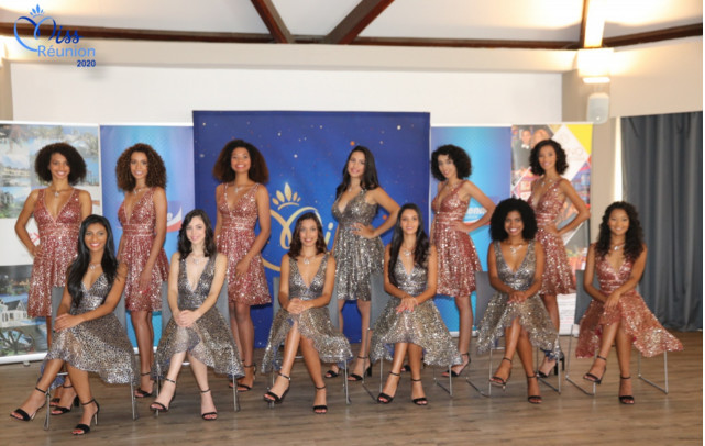 Les 12 belles jeunes candidates Miss Réunion 2020