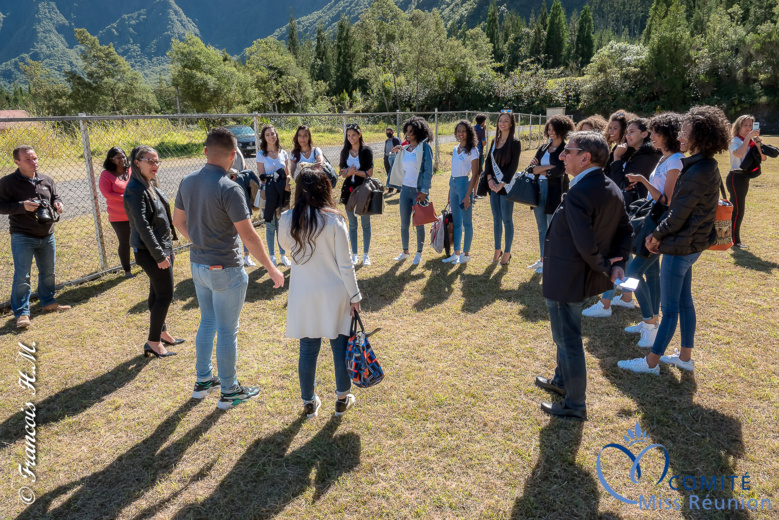 Les 12 candidates 2020: arrivée à Cilaos