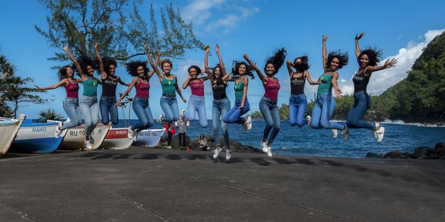 Arrêt à l'Anse des Cascades pour les candidates Miss Réunion 2021
