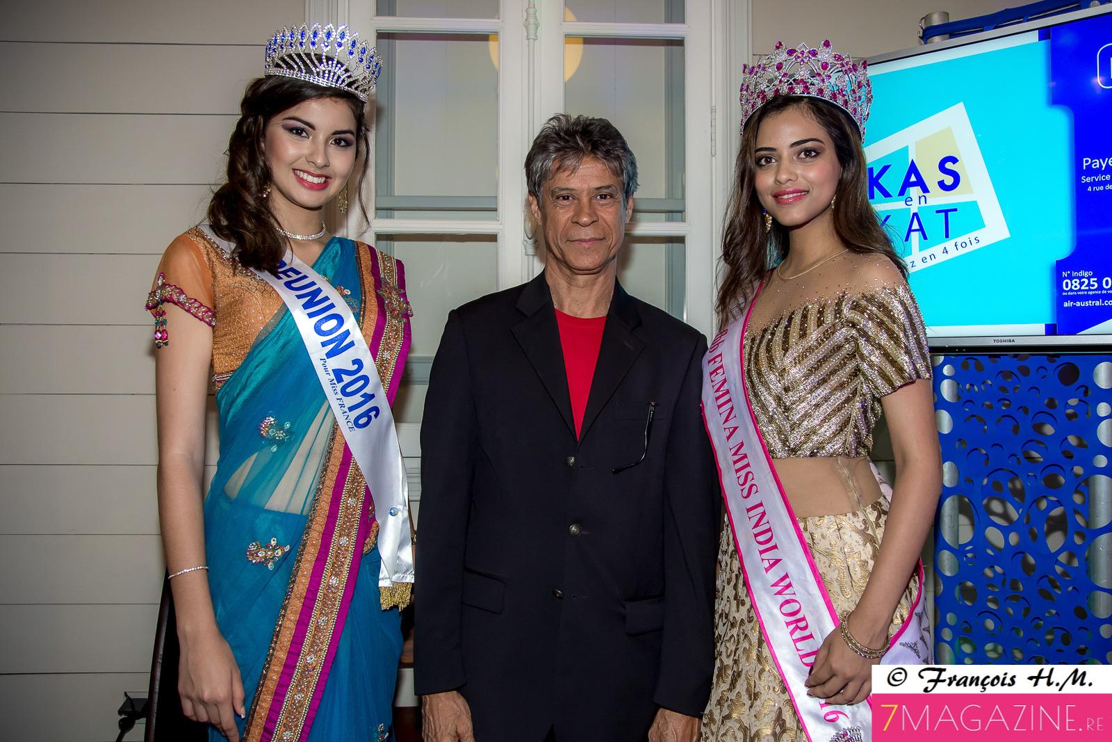 Miss India à La Réunion, accueillie par Ambre N'guyen