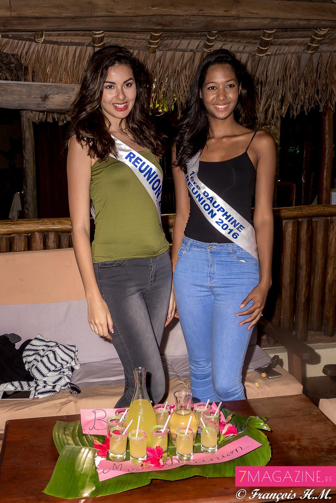 Ambre N'guyen, Miss Réunion 2016, et Raïssa Cadarsi, sa 1ère dauphine, ont passé un merveilleux moment au Palmarium
