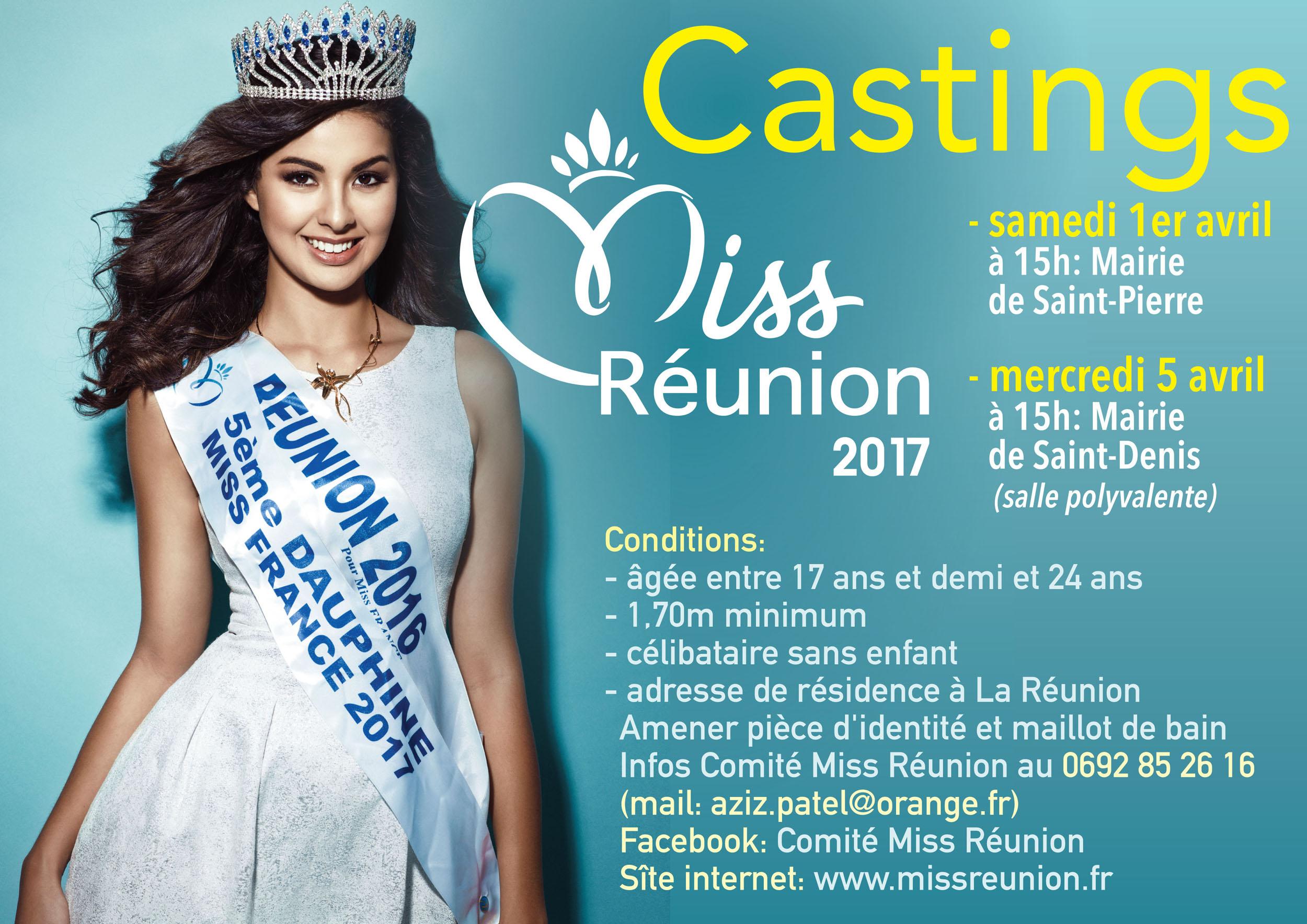 Castings Miss Réunion 2017