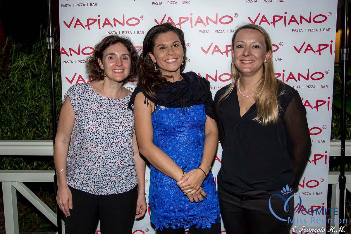 L'équipe du Vapiano, Delphine Vincent, responsable marketing, Aurore Séraphine, directrice adjointe du restaurant, et sandrine Gillotin, directrice du restaurant