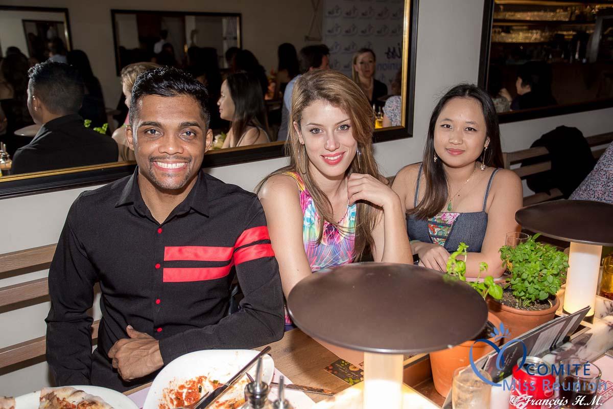 Fredo, Tiphaine, et Laetitia accompagnaient les Miss