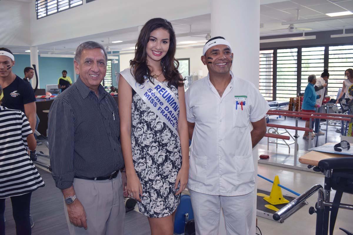 Aziz Patel, Ambre N'guyen et Jean José Maguite, cadre de santé