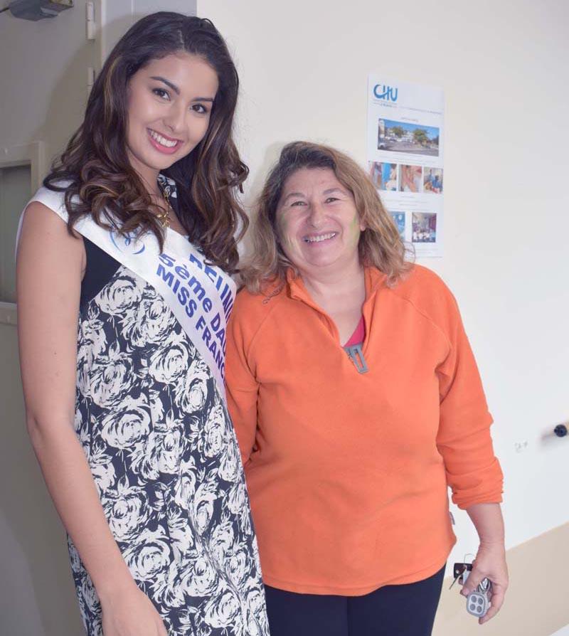 Miss Réunion à l'Hôpital du Tampon pour les Olympiades