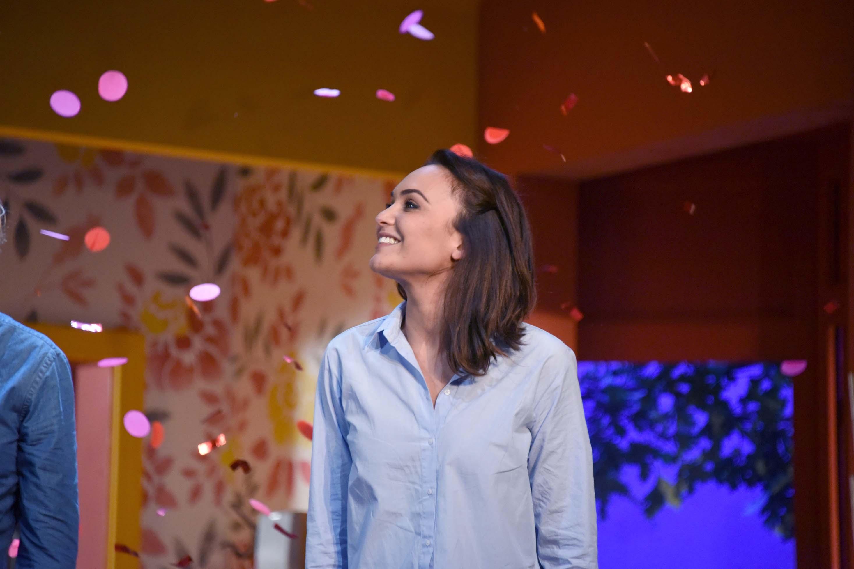 Valérie Bègue toujours souriante après 1h30 de scène...