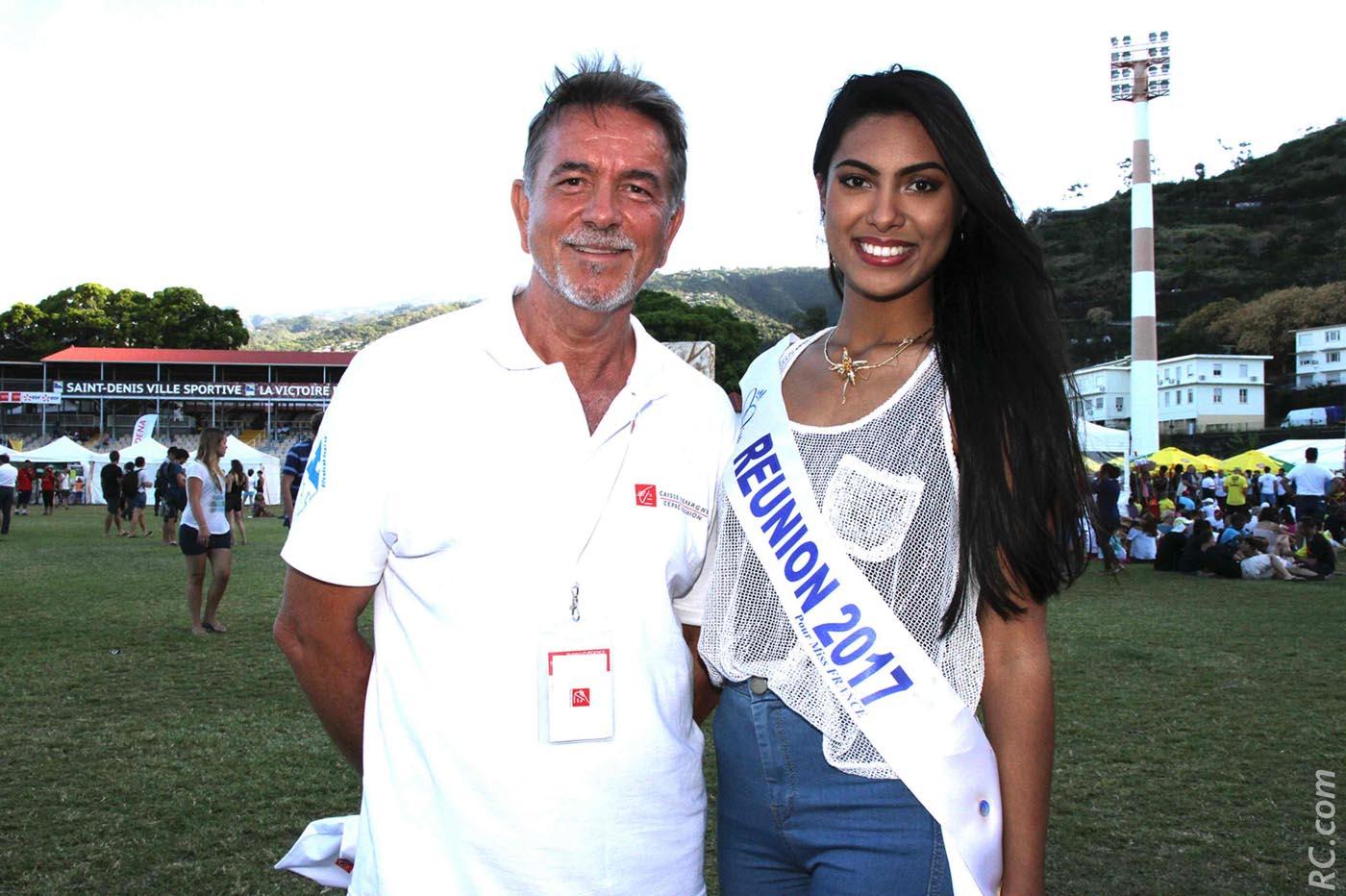 Patrick Geiglé et Miss Réunion