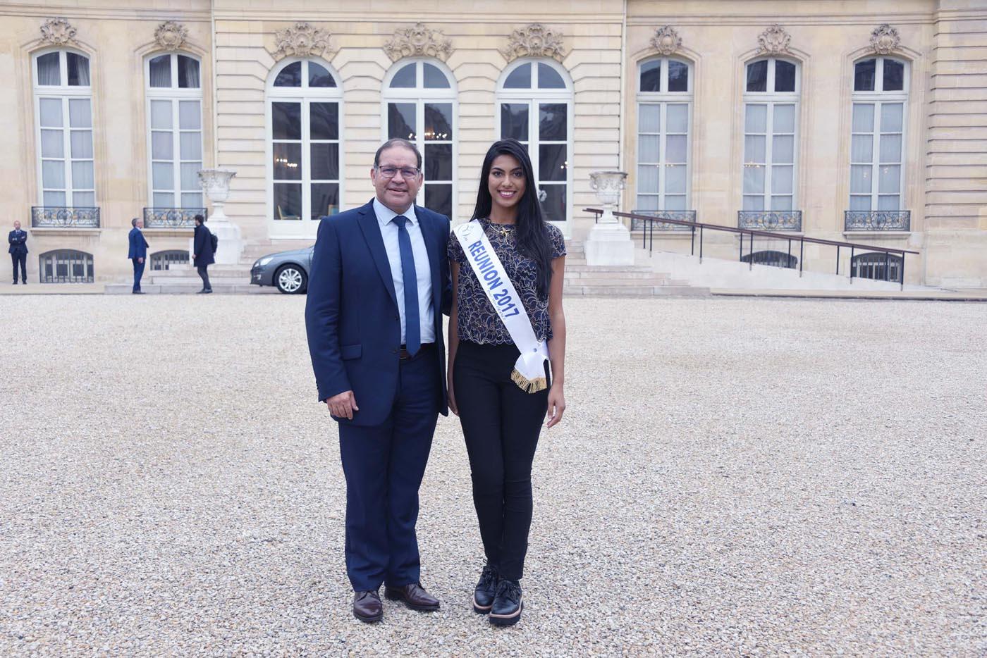David Lorion, député de La Réunion, et Audrey Chane Pao Kan, Miss Réunion 2017