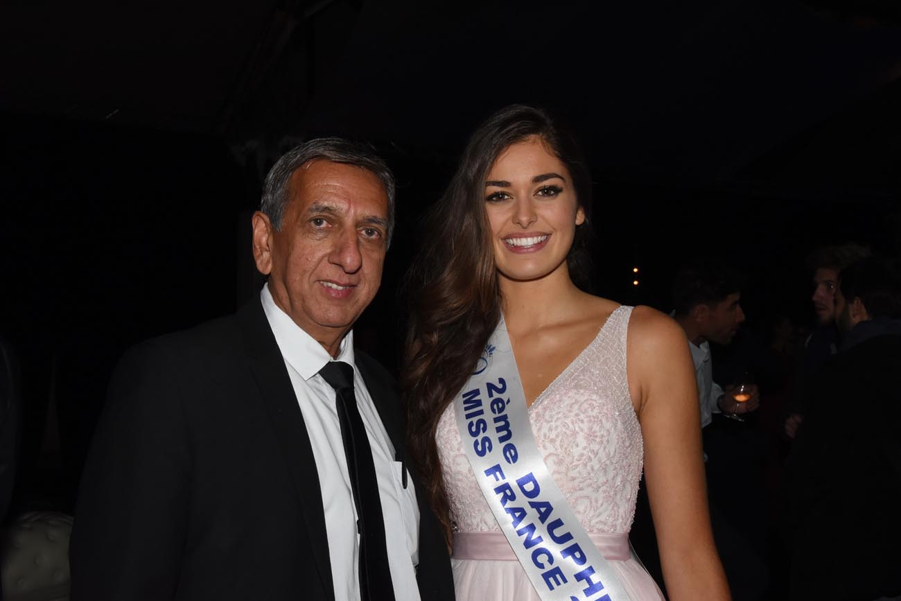 Aaiz Patel et Miss Ile de France, 2ème dauphine Miss France 2018