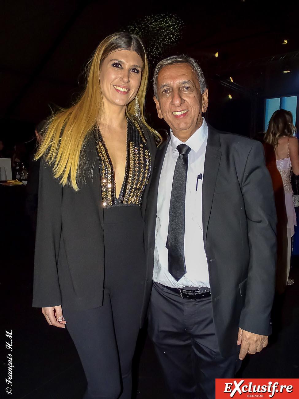 Marie-Charlotte Méré, déléguée Miss France pour la Provence, et Aziz Patel, délégué Miss France pour La Réunion