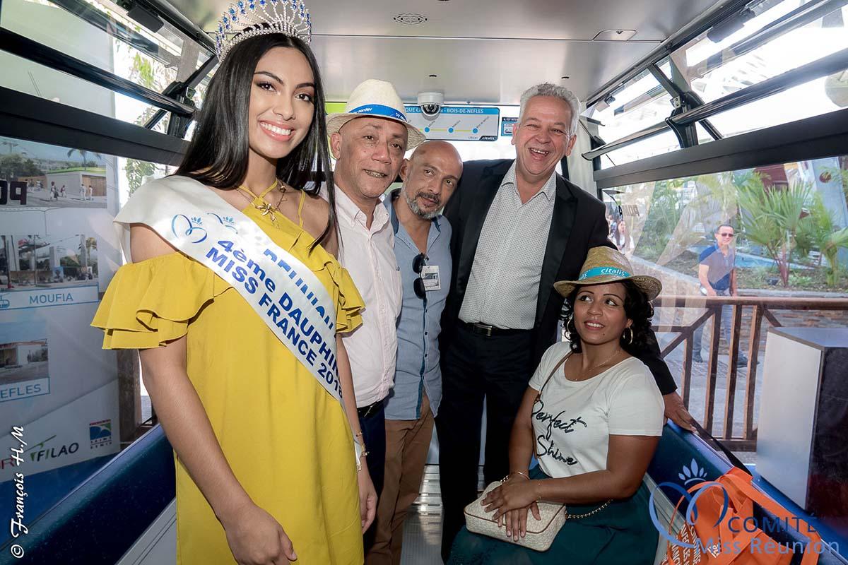 Audrey Chane Pao Kan inaugure la cabine du téléphérique de la Cinor