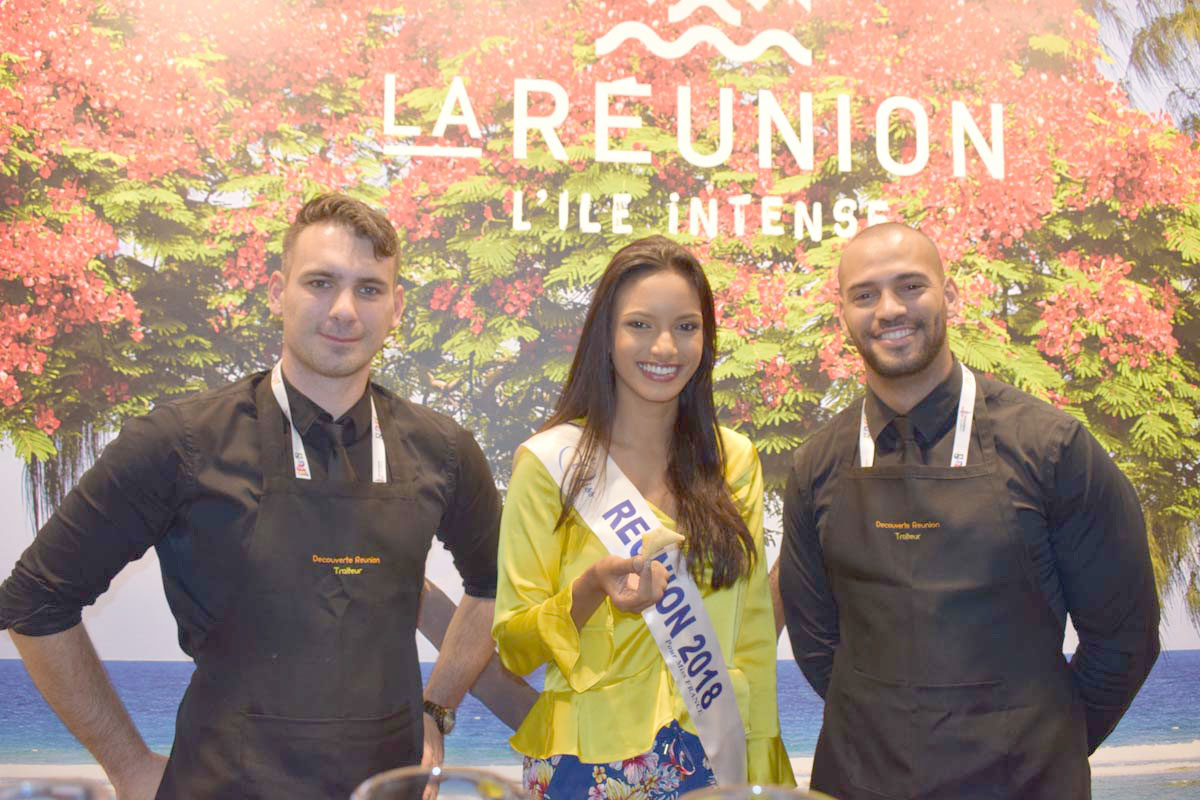 Morgane Soucramanien au salon Top Résa 2018 à Paris