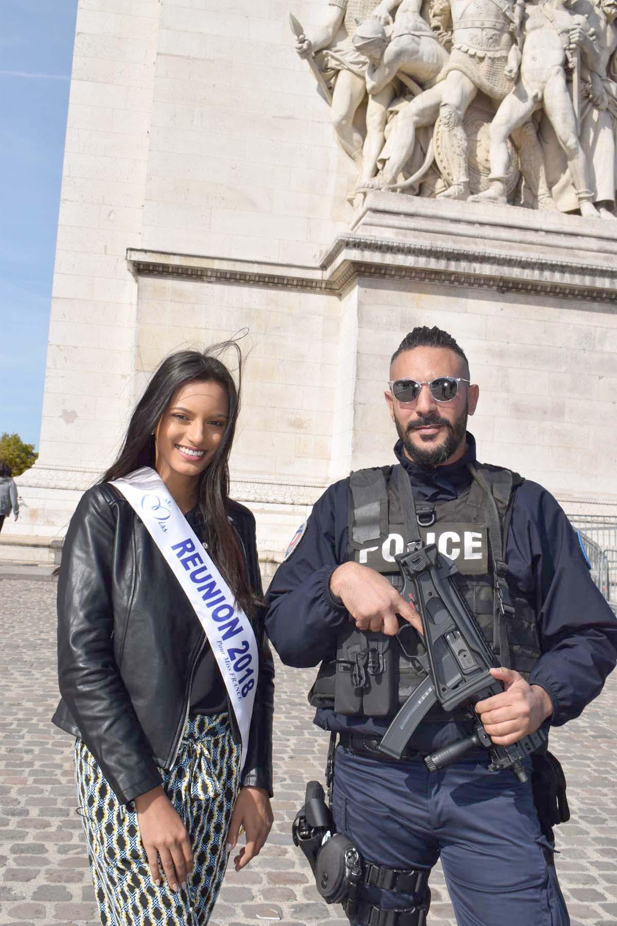 Plutôt bien protégée notre Miss Réunion!